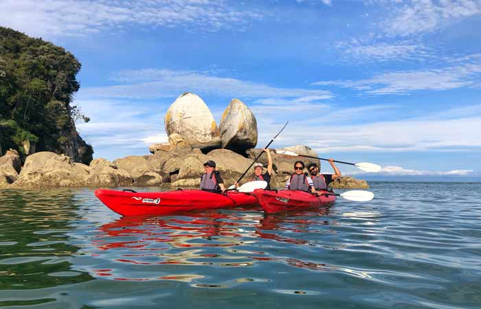 Kayak to Split Apple Rock, Abel Tasman