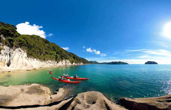 Kayaking in the Abel Tasman
