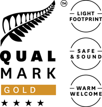 Qualmark 4-Star Gold Sustainable Tourism Business Award Logo